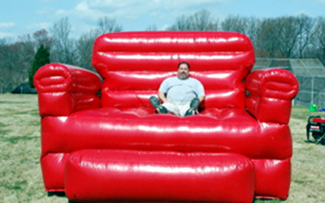 & Big Red Inflatable Chair