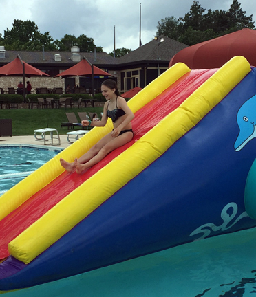 Dolphin Inflatable Swimming Pool Water Slide Rentals - MD DC ...