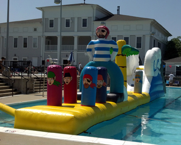 Swimming Pool Inflatable Obstacle Course Rentals - Swimming ...