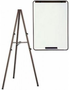 dry erase board and easel - web