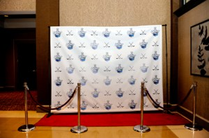 step and repeat with red carpet - web