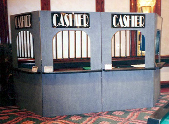 Cashier Cage - Casino Night Props - Props and Decor - Money Booth ...