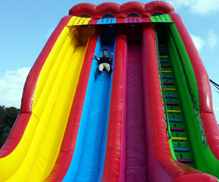 Triple A Rental >> Triple Lindy 3 Lane Inflatable Slide For Party Rentals In Md Dc Va